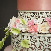 Romantic Wedding Cake by lorraine mcgarry