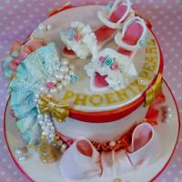 Pretty little shoes and frills birthday cake by Dee