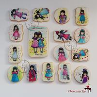 Hand painted Gorjuss cookies