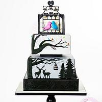 Holiday Wedding Cake (Cake Central Magazine)