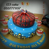 spider man cake by Hiyam Smady