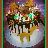 Christmas old fashion drip cake