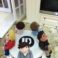 One direction Cake by pandorascupcakes