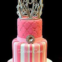 Princess Cake with Edible Tiara