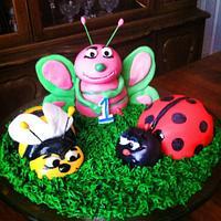 Bug smash cake