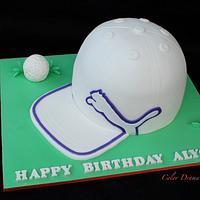 Golf Cap Cake