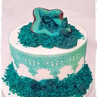 Crystals & Lace cake