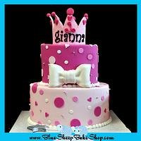 Princess 1st birthday cake by Karin Giamella