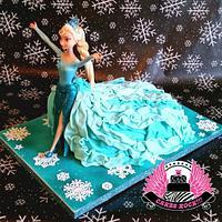 Queen Elsa Frozen Cake