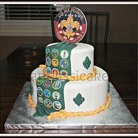Boy Scouts cake