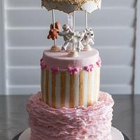 Vintage Puppy Carousel Cake (aka Snoop Doggie Dogg Cake)