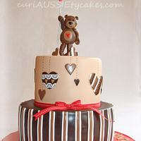 Balloon bear baby shower cake by CuriAUSSIEty  Cakes