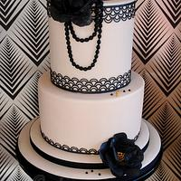 Gatsby themed 'Flappers and Dappers' cake