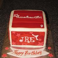 American Girl Gift Box cake