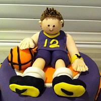 Basketball themed cake by Priscilla's Cakes
