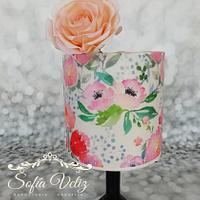 Roses y Rice paper