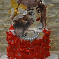Painted Lady cake