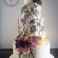 Stained glass and sugar flowers