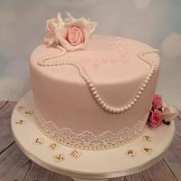 Classy 70th Birthday Cake