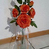 Tangerine Roses Bouquet