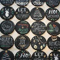 Christmas chalkboard cupcakes