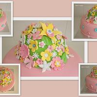 flower cake by Cakes-n-Sweets