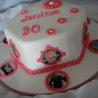 Daisies & Edible Images 30th Birthday Cake