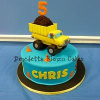 Construction Pals Dump Truck Cake