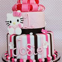 Hello Kitty cake by CeCe