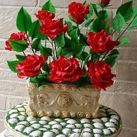 Antique Rose Pot