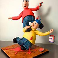 Pat and Mat cake