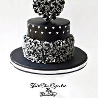 Ruffle and Heart Cake