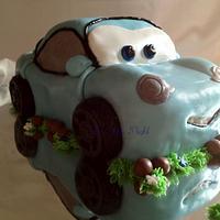 "Disney Cars - ""Sally"" 3D cake"