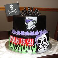 Gravedigger & Mohawk Warrior cake