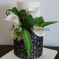 Calla Lilies Wedding Cake