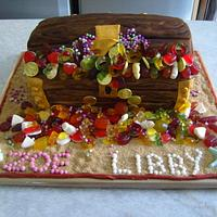 Pirate chest cake
