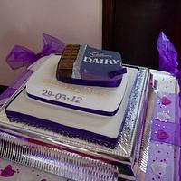 Dairy Milk Wedding Cake