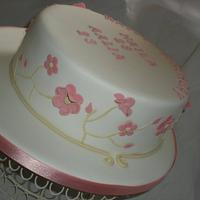 Pretty flowered cake by The Snowdrop Cakery