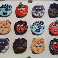 Moshi Monster character cupcakes