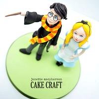 Alice and Harry cake topper
