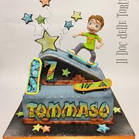 Skateboard cake by Davide Minetti