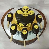Emoji cake and cakesicles