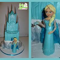 Frozen castle with Elsa