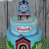 """""""Thomas the Tank"""" birthday cake"""