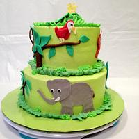 Jungle Theme Baby shower by Dawn Henderson