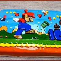 THE SUPER MARIO 10th BIRTHDAY CAKE