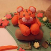 Tiger Themed Cake