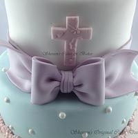 Tatty Teddy Christening Cake by Shereen