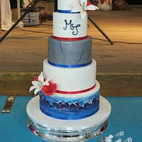 Grey Goose vodka wedding cake