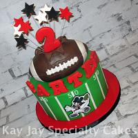 Atlanta Falcons Mickey Mouse Cake